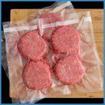 hamburger frozen in portions