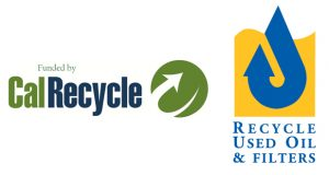 calrecycle and oil recycle logos