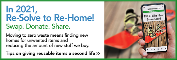 resolve to rehome for zero waste