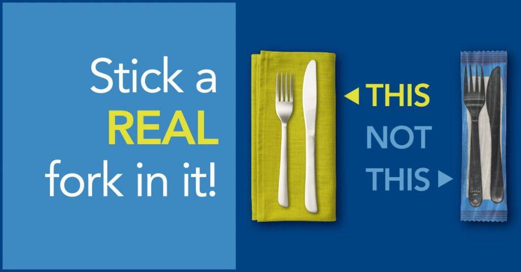 stick a real fork in it image